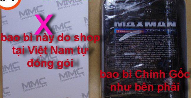 Thuốc cường dương MAXMAN 3800mg hàng giả